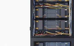 Серверы и фото концепции компьютерной технологии комнаты оборудования стоковые изображения