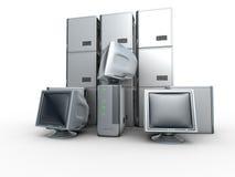 серверы компьютера Стоковое Фото