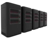 серверы компьютера 3d Стоковые Фотографии RF