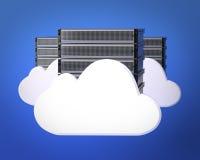 Серверы облака вычисляя Стоковое Изображение RF