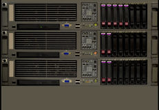 серверы шкафа компьютера Стоковое Изображение