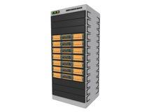 серверы 1 померанца 3d иллюстрация штока