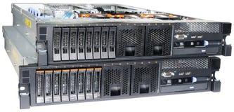 серверы 2 шкафа держателя стоковые фотографии rf