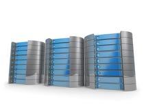 серверы 3d Стоковое фото RF