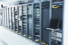 сервер комнаты сети стоковое фото