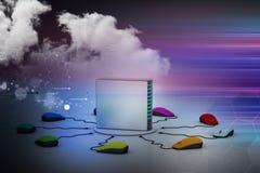 Сервер компьютера соединенный мышью Стоковые Изображения RF