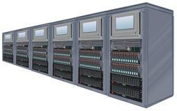 сервер компьютера шкафов Бесплатная Иллюстрация