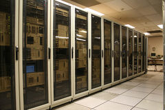 сервер компьютерной комнаты Стоковая Фотография