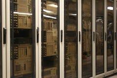 сервер компьютерной комнаты стоковые фото