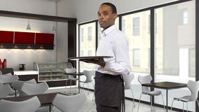 Сервер кофейни стоковое фото rf