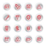 сервер красного цвета икон Стоковое Изображение RF