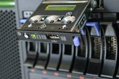 Сервер с панелью и хранением рейда Стоковое Изображение RF