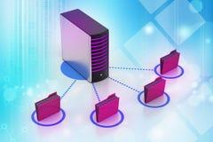 Сервер с папкой файла Стоковое фото RF