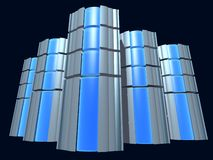 Сервер с синим стеклом стоковое фото rf