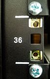 Сервер шкафа в комнате центра данных стоковые изображения