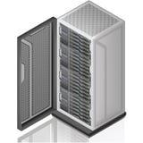 сервер шкафа сети Стоковые Фотографии RF