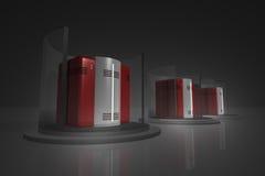 сервер шкафа 6 черный dof Стоковое Фото