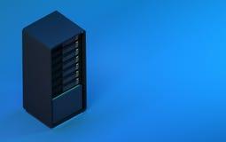 сервер 3d представляет голубое равновеликое Стоковые Изображения