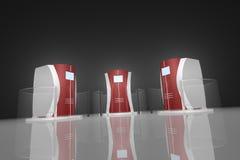 сервер v4 7 шкафов Стоковое Изображение RF
