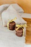 Сервировка печений шоколада Стоковые Фотографии RF