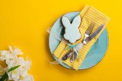 Сервировка стола пасхи Стоковое фото RF