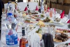 Сервировка стола на праздник, ресторан Стоковая Фотография