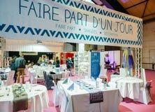 Сервировка стола на Салоне du Замужестве wedding справедливая Франция Стоковое Изображение RF