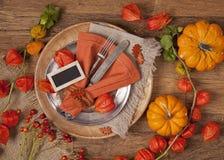 Сервировка стола осени Стоковое Фото
