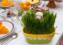 Сервировка стола пасхи Стоковое Изображение