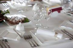 Сервировка стола перед обедающим Стоковые Фото