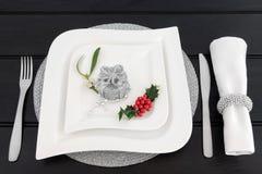 Сервировка стола рождественского ужина Стоковые Изображения RF