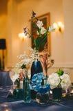 Сервировка стола свадьбы Стоковое Изображение RF