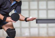 Сервировка теннисиста таблицы Стоковое Фото