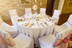 Сервировки стола свадьбы Стоковая Фотография RF