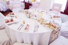 Сервировки стола свадьбы Стоковое Изображение RF
