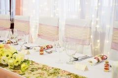 Сервировки стола свадьбы Стоковые Фото