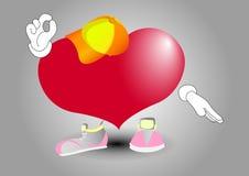 Сердечное ок Когда сердце совсем право иллюстрация штока