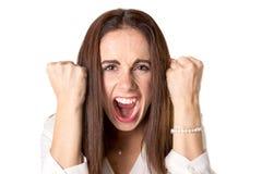 Сердитая вскользь молодая женщина стоковое изображение rf
