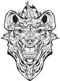 Сердитая гиена изолировано Страница расцветки Бесплатная Иллюстрация