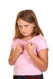 сердитая девушка дракой готовая к детенышам Стоковые Фото