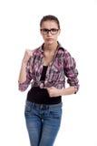 сердитая девушка предназначенная для подростков Стоковое Изображение