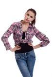 сердитая девушка предназначенная для подростков Стоковая Фотография
