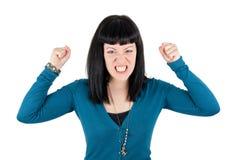 сердитая девушка Стоковое Фото