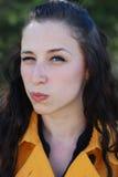 сердитая девушка Стоковые Фотографии RF