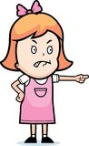 сердитая девушка иллюстрация штока