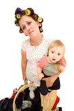 сердитая домохозяйка Стоковое Изображение RF