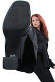 сердитая женщина конкуренции дела вне stomping Стоковое Изображение RF