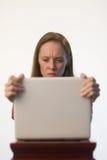 сердитая женщина 01 Стоковое Изображение