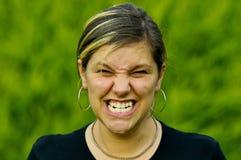 сердитая женщина Стоковая Фотография