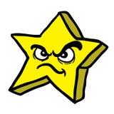 Сердитая звезда Стоковые Изображения RF